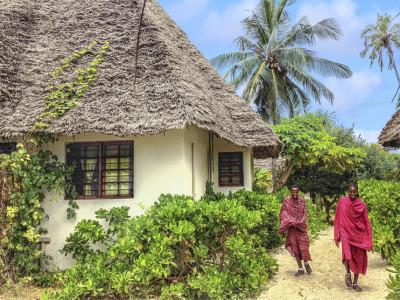 Beach houses in Zanzibar in Tanzania