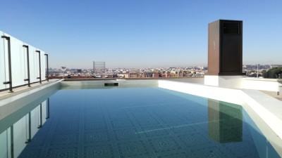 Vista su Roma con piscina